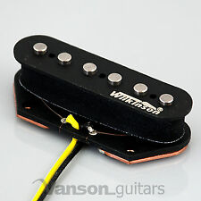 NEW Wilkinson WVTB Alnico V Polepiece Bridge Pickup for Tele®* guitars Black