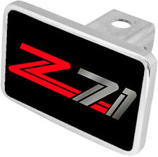 New Chevrolet Z71 Red/Mirrored Logo Hitch Cover Plug