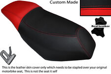 RED & BLACK CUSTOM FITS MALAGUTI PHANTOM F12 100 DUAL LEATHER SEAT COVER