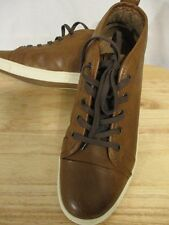 Apt. 9 Synthetic Leather Size 8.5 M Brown Mid-Top Sneakers SR$75 NEW