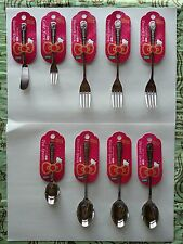 SANRIO HELLO KITTY STAINLESS STEEL SPOON, FORK & BUTTER KNIFE SET MADE IN JAPAN