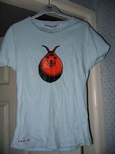 SPACE HOPPER BLUE OR BEIGE RETRO SHORT SLEEVED T SHIRT TOP BY KRONK S/M NEW!!