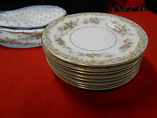 "Beautiful NORITAKE ""Somerset"" Eight BREAD-SALAD Plates 6.25"" with Storage Bag"