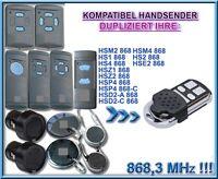Kompatibel mit HS1, HS2, HS4, HSE, HSM Handsender 868,3MHz, Klone, ERSATZ