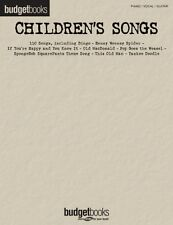 Children's Songs Sheet Music Budget Books Piano Vocal Guitar Songbook  000311054
