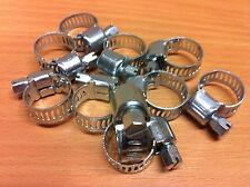 20 x zincato-acciaio tubo morsetto tubo morsetto morsetti 11-15 mm spannb.