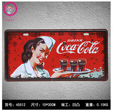 "COCA-COLA ""Metal Tin Sign Bar pub home Wall Decor Retro ART Poster 6X12"" TT166"