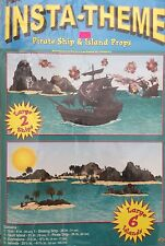 Pirate theme Party Supplies~Pirate Ship & Island Wall props