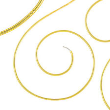 "Beadsmith 0.7mm Thick French Wire/Gimp/Bullion Fine Gold Colour 14"" Coil (J38/3)"
