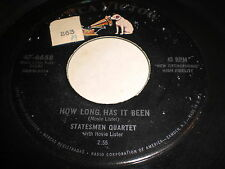Statesmen Quartet with Hovie Lister: How Long Has It Been 45 - Gospel