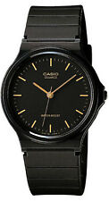 Casio Black and Gold Classic Analog Watch MQ-24-1E NEW
