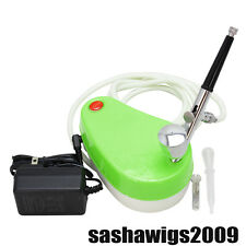 OPHIR Mini Green Air Compressor with 0.30mm Airbrush Kit  for Nail Art Makeup