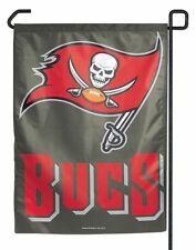 "TAMPA BAY BUCCANEERS TEAM GARDEN WALL FLAG BANNER 11"" X 15"" NFL FOOTBALL"