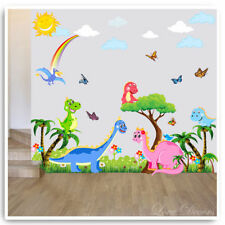 Dinosaur Wall Stickers Animal Owl Tree Nursery Baby Bedroom Vinyl Decal Mural