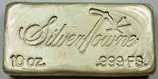 Ten Troy Ounce Silvertowne 10 oz .999 Fine Silver Pour / Poured Bar / Ingot