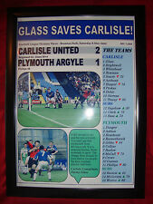 Carlisle United 2 Plymouth Argyle 1 - Jimmy Glass - 1999 - framed print