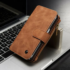 Magnetic Removable Wallet Leather Flip Cards Case Cover For Samsung iPhone S001