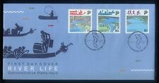 Singapore Stamps First Day Cover FDC -1987 River Life Commemorative Stamp Issue