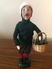 1998 Byers Choice Caroler Man with Basket of Pine Cones
