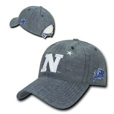 NCAA USNA United States Naval Academy Relaxed Denim Baseball Caps Hats Blue