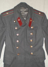 Vintage Russian Soviet Officer Army Winter Coat Military Woolen Police Overcoat