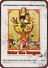 1973 Bruce Lee Enter the Dragon Vintage Look Reproduction Metal Sign 2