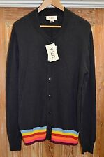 YMC Cardigan Navy Blue Multi Stripe Sz M Cotton Cashmere you must create
