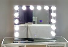 XL Dimmable Hollywood Forever Lighted Vanity Mirror w/ Dual Outlet