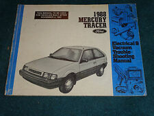 1988 MERCURY TRACER / WIRING & VACUUM DIAGRAM SHOP MANUAL / ORIGINAL BOOK