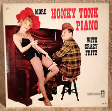 "More Honky Tonk Piano With Crazy Fritz 33 rpm Record LP Vintage 12"" Vinyl"