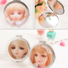 1PC Cute Womens Printed Portable Travel Round Mirror SD Doll Makeup Face Mirrors