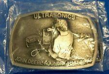 1993 John Deere Foundry Waterloo Ultrasonics Belt Buckle pewter New in package