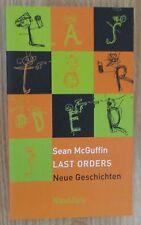 Last Orders * Neue Geschichten * Sean McGuffin Edition Nautilus 2001