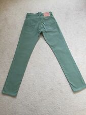 Mens Levis Green Canvas/Cotton Style Jeans W27 L32 Good Condition (922)