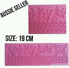 LACE MAT butterflies  Silicone Mould Chocolate Cup Cake Sugarcraft