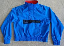Vtg Helly Hansen Blue Red LIFA Pullover Outershell Nylon 1/2 Zip Women Large 80s
