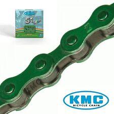 Catena KMC S1 Color 1 Velocità 112 Maglie Verde per bici 26-28 Tipo Condorino