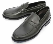 Mens BRIONI Italy Green Leather Loafers Shoes Uk 8 1/2 US 9 1/2 NIB $1,095!