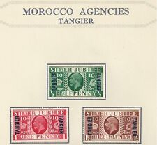 GREAT BRITAIN OFFICES ABROAD IN MOROCCO # 508-510 MHG KING GEORGE V (Tangier)