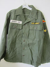 Korean War Era US Army Field Shirt ID: Wright. D.E.,w/ US 7th Army & Specialist