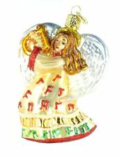 *Take Note Angel* [10214] Old World Christmas Glass Ornament - NEW