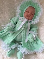"""New: Stunning Knitted 5 Piece Set For A 22"""" Reborn Baby Girl"""