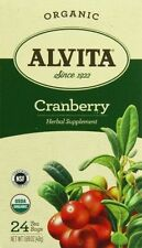Alvita Cranberry 24 Tea Bags Herbal Supplement USDA Organic