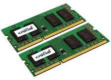 Crucial 16GB Kit (8GBx2) DDR3 204-Pin PC3-12800 Laptop Memory CT2CP102464BF160B