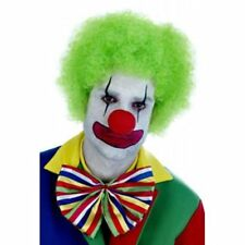 Adult Green Clown Afro Wig Scary Circus Halloween Fancy Dress Accessory