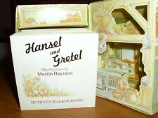 RARE/HANSEL & GRETEL/METHUEN 1982/CARD WITCH COTTAGE & BOOK/GRIMMS FAIRY TALES