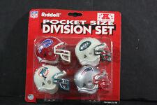Riddell Pocket Pro Football Helmets NFL AFC EAST Set Vintage Rare Mint Original