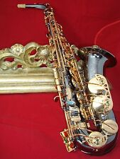 alto saxophone professional - Prestini- black  lacquer body and gold  keys