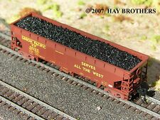Hay Brothers - LUMP COAL LOAD - fits ATLAS 70-Ton HART N scale Gondolas