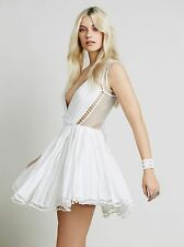 4200 Nwd $168 Free People FP One Lucas Ivory Cotton Wrap Tunic Dress Small S 6